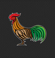 rooster logo design template rooster head icon vector image