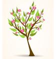 tree hearts vector image