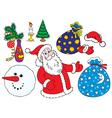 Christmas clip-arts vector image
