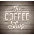 slogan wood brown coffee shop vector image