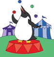 Penguin at the Circus vector image