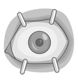 Eye procedure icon gray monochrome style vector image