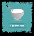 Paper art Rice bowl vector image