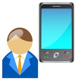 Bring Your Own Device BYOD Buddy with mobile phone vector image