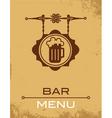 bar menu vector image vector image
