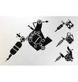 Grunge tattoo machines prints vector image