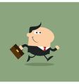 Running Businessman Cartoon vector image vector image