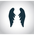 Angel wings silhouette vector image