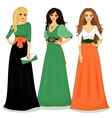 beautiful girls vector image