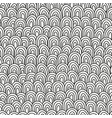 black and white hand drawn pattern for coloring vector image