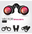 Black binocular with red lenses vector image