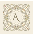Elegant luxury varicolored floral frame vector image