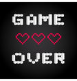 Game over screen old school gaming poster failure vector image