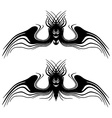 Halloween monsters with wings Tattoo Isolated vector image