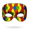 harlequin mask vector image