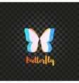 Isolated pink and blue butterfly logo vector image
