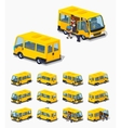 Low poly passenger minivan vector image