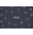 Milk Thin Line Icons vector image