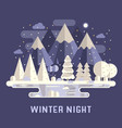 mountain lake winter background vector image