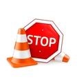 Road repair vector image