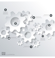 Settings icon Flat abstract background with web vector image