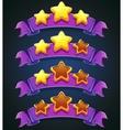 Set stars and ribbons vector image