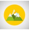 snowy mountains sun rain weather concept design vector image