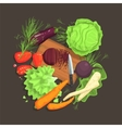 Still Life With Cooking Ingredients For Fresh vector image