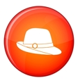 Hat icon flat style vector image