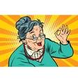 Grandma okay gesture the elderly vector image