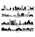 city silhouette london singapore madrid rome vector image