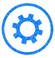 gear rounded grainy icon vector image