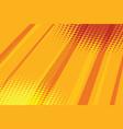 red yellow halftone raster effect pop art vector image