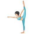 A girl stretching her body vector image