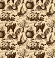 Hand drawn Halloween seamless pattern vector image vector image