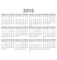 Calendar 2015 03 vector image