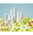 Skyscrapers and office buildings vector image vector image
