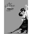 ballroom dancing poster vector image vector image