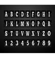 Scoreboard Alphabet and Set of Figures vector image