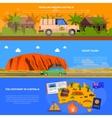 Australia Banners Set vector image