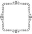 Decorative frame for design vector image
