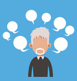 elderly man with bubble speech vector image