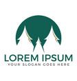 spruce trees logo design vector image