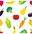 vegetable pattern in flat style bright healthy vector image