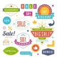 Sale Tags and Labels Design Vintage Set for vector image