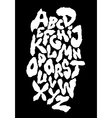 Ragged horror font alphabet vector image