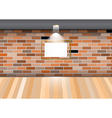 Empty room blank frame brick wall vector image
