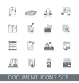 Document Icon Black vector image