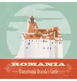 Romania landmarks Retro styled image vector image