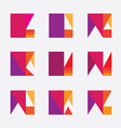 Colorful geometric logo design vector image